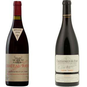Deux immenses Châteauneufs du pape Rayas et Tardieu pour Lindaboie.jpg
